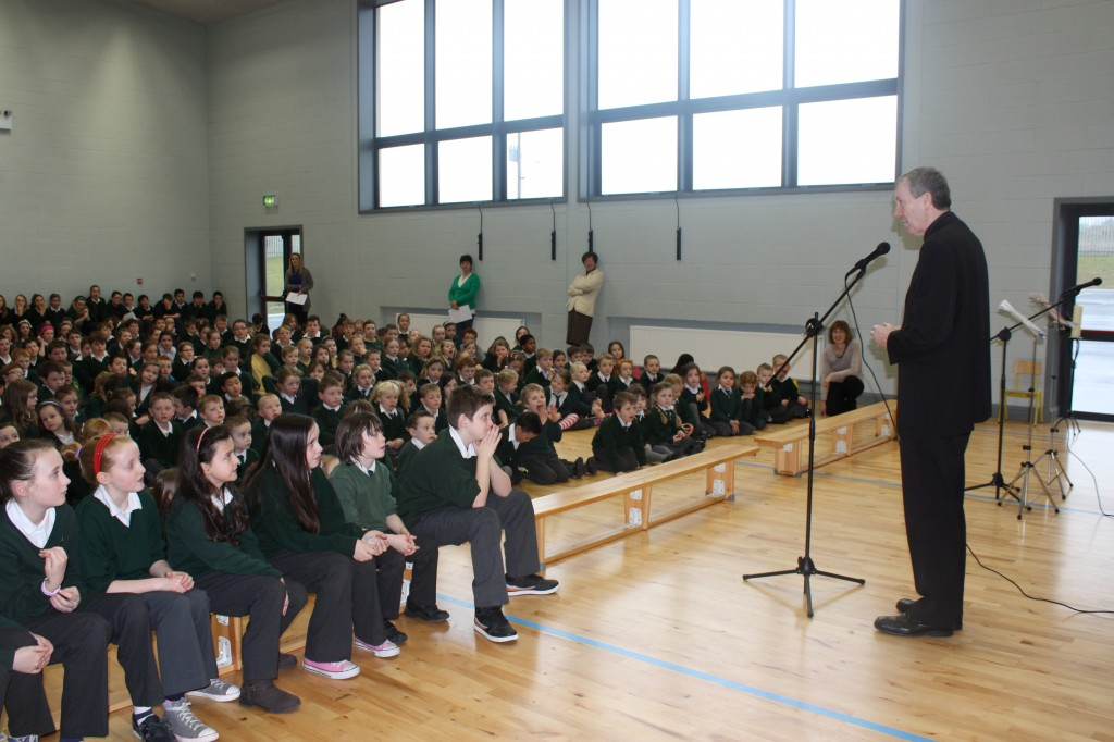 Bishop Nulty addresses the school community
