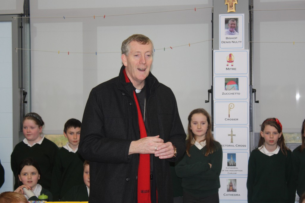 Bishop Nulty speaks to 3rd and 4th Classes